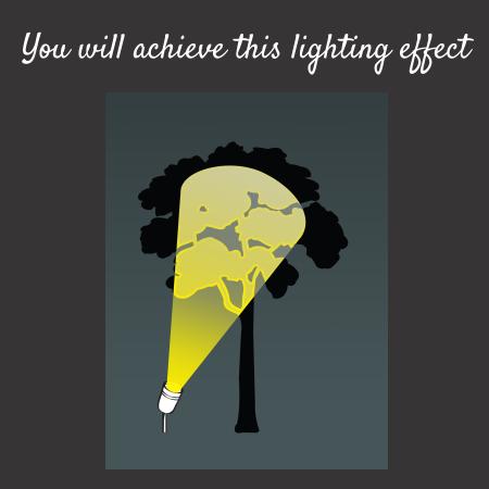 Tree lighting effect